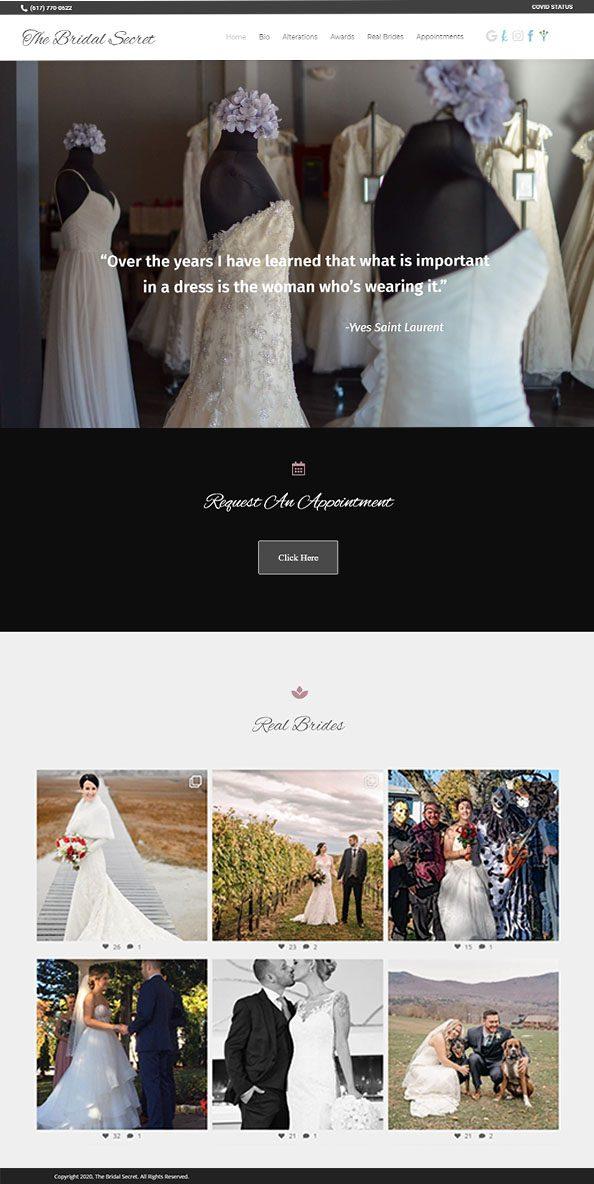 The Bridal Secret Dot Com screenshot
