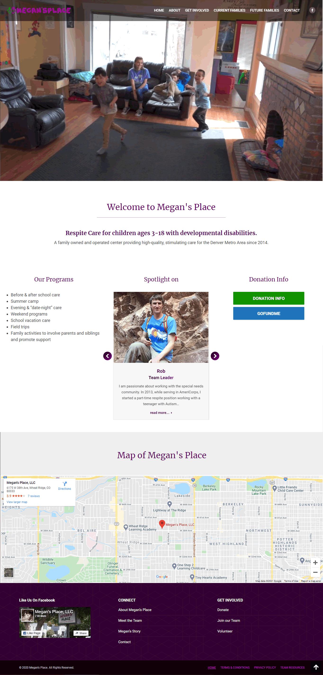 megans place dot org website screenshot